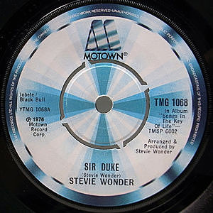 レコード画像:STEVIE WONDER / Sir Duke / He's Misstra Know-It-All