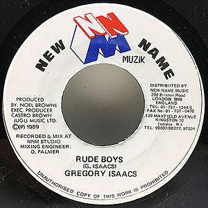 レコード画像:GREGORY ISAACS / Rude Boys