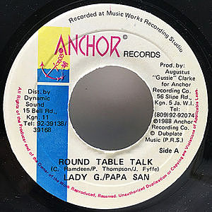 レコード画像:LADY G. / PAPA SAN / Round Table Talk