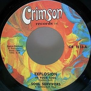 レコード画像:SOUL SURVIVORS / Explosion In Your Soul
