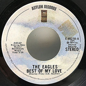 レコード画像:EAGLES / Best Of My Love / Ol' '55