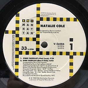 レコード画像:NATALIE COLE / Pink Cadillac / I Wanna Be That Woman