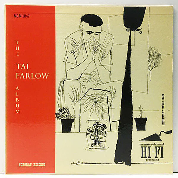 レコードメイン画像:良好!! 黄Norgran 米 USオリジナル TAL FARLOW Album (MG N-1047) DSMジャケ BARRY GALBRAITH, CLAUDE WILLIAMSON, OSCAR PETTIFORD