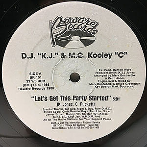レコード画像:D.J. K.J. & M.C. KOOLEY C / Let's Get This Party Started