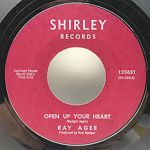 レコード画像:RAY AGEE / Open Up Your Heart / The Gamble