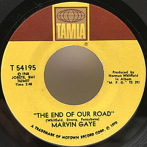レコード画像:MARVIN GAYE / The End Of Our Road / Me And My Lonely Room