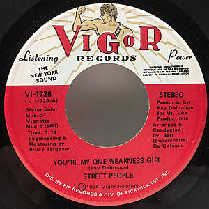 レコード画像:STREET PEOPLE / You're My One Weakness Girl / You're The Girl I Love