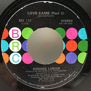 レコード画像:RONNIE LIMAR / Love Came