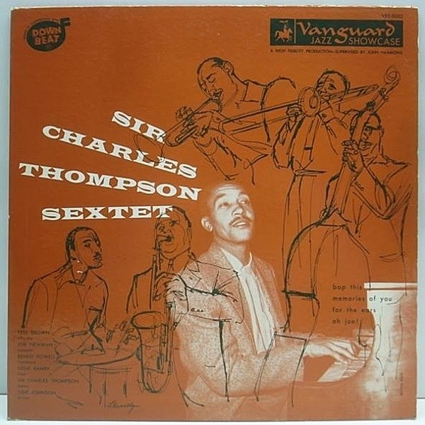 レコードメイン画像:Vanguard 10 Orig. SIR CHARLES THOMPSON Pete Brown 中間派好盤