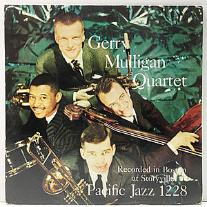 レコード画像:GERRY MULLIGAN / Gerry Mulligan Quartet - Recorded In Boston At Storyville