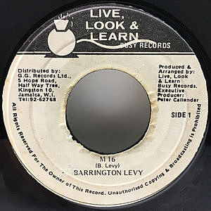 レコード画像:BARRINGTON LEVY / M 16