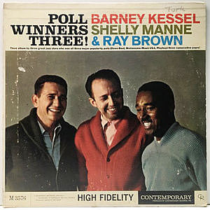 レコード画像:BARNEY KESSEL / SHELLY MANNE / RAY BROWN / Poll Winners Three!