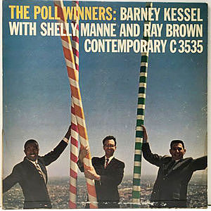 レコード画像:BARNEY KESSEL, SHELLY MANNE, RAY BROWN / The Poll Winners