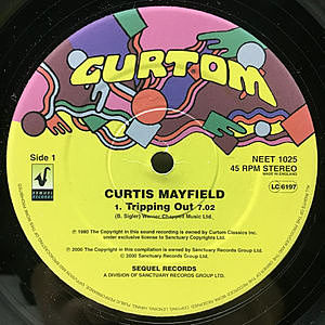 レコード画像:CURTIS MAYFIELD / Tripping Out