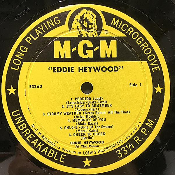 EDDIE HEYWOOD / Same (LP) / MGM   WAXPEND RECORDS