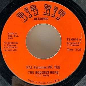レコード画像:KAL Featuring MR. TEE / The Boogies Here