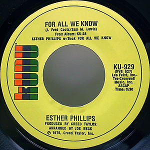 レコード画像:ESTHER PHILLIPS / Fever