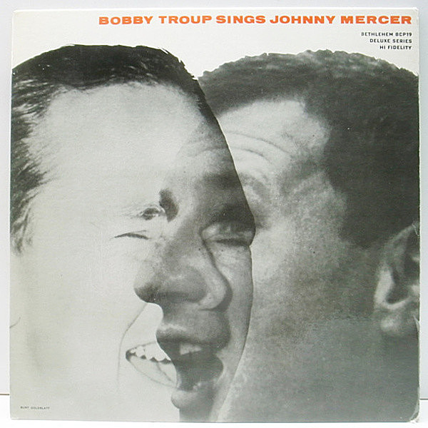 レコードメイン画像:美盤!! FLAT MONO 1stリーフ 深溝 USオリジナル BOBBY TROUP Sings Johnny Mercer (Bethlehem BCP19) HOWARD ROBERTS ほか