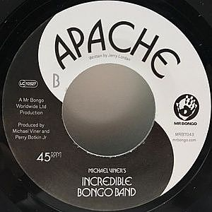 レコード画像:INCREDIBLE BONGO BAND / Bongo Rock / Apache