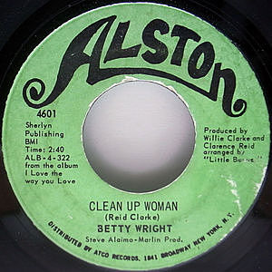 レコード画像:BETTY WRIGHT / Clean Up Woman