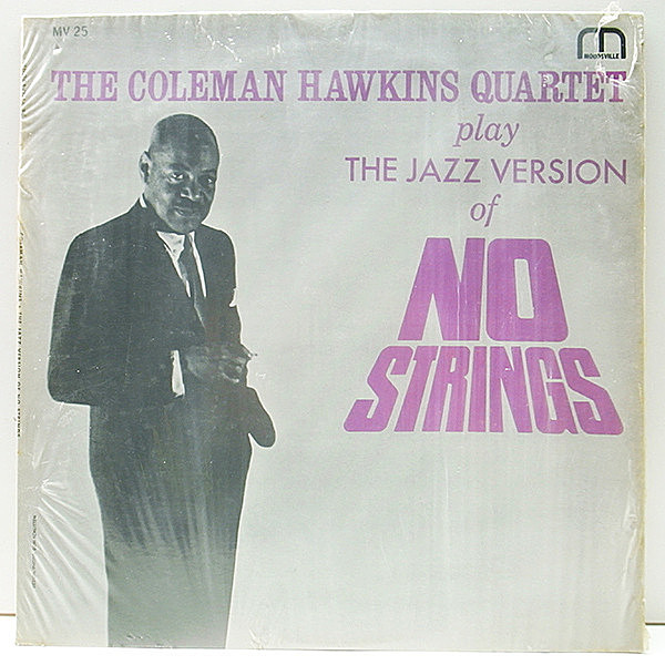 レコードメイン画像:シュリンク美品!! MONO 深溝 RVG刻印 COLEMAN HAWKINS Play The Jazz Version Of No Strings (Moodsville 25) TOMMY FLANAGAN ほか