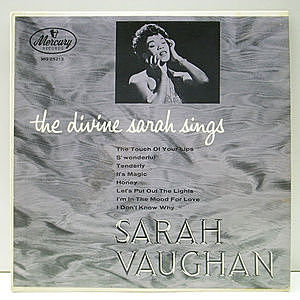 レコード画像:SARAH VAUGHAN / The Divine Sarah Sings