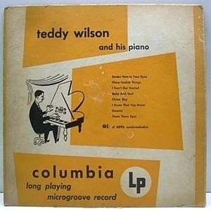 レコード画像:TEDDY WILSON / And His Piano