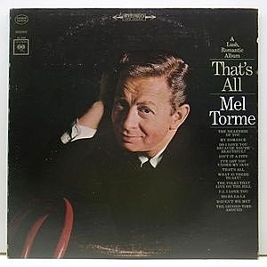 レコード画像:MEL TORME / That's All