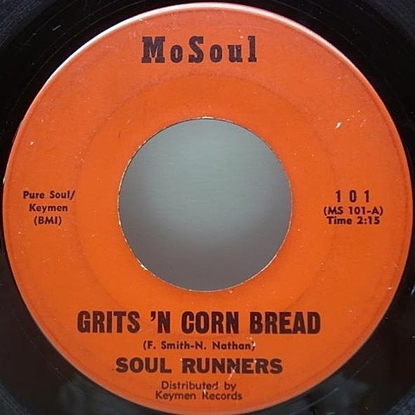 レコードメイン画像:FUNKY R&B!! 7インチ オリジナル SOUL RUNNERS Grits 'N Cornbread / Spreadin' Honey ('66 MoSoul) 45 RPM.