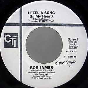 レコード画像:BOB JAMES / I Feel A Song (In My Heart)