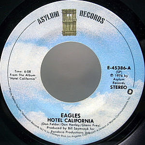 レコード画像:EAGLES / Hotel California