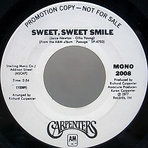 レコード画像:CARPENTERS / Sweet, Sweet Smile