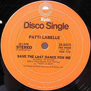 レコード画像:PATTI LABELLE / Eyes In The Back Of My Head