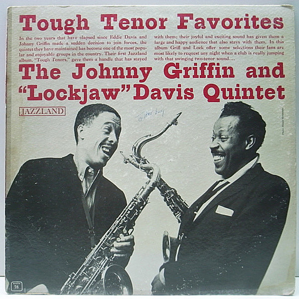 レコードメイン画像:MONO 橙ラベ オリジナル JOHNNY GRIFFIN & EDDIE Lockjaw DAVIS Tough Tenors ('60 Jazzland)