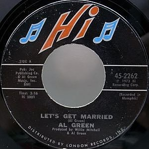 レコード画像:AL GREEN / Let's Get Married / So Good To Be Here