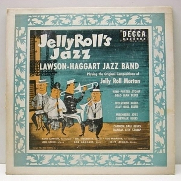 レコードメイン画像:10 FLAT盤 USオリジ LAWSON HAGGART JAZZ BAND Jelly Rolls Jazz