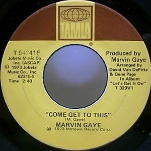 レコード画像:MARVIN GAYE / Come Get To This / Distant Lover
