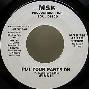 レコード画像:WINNIE / Put Your Pants On / Never Leave