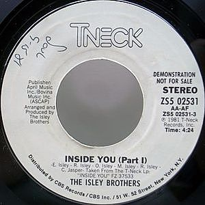 レコード画像:ISLEY BROTHERS / Inside You