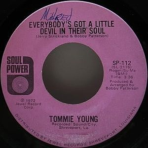 レコード画像:TOMMIE YOUNG / Everybody's Got A Little Devil In Their Soul