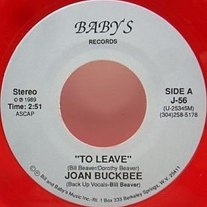 レコード画像:JOAN BUCKBEE / BILL BEAVER / To Leave c/w Apple Butter Baby 89