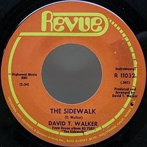 レコード画像:DAVID T. WALKER / The Sidewalk / Reach Out For Me