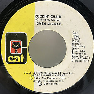 レコード画像:GWEN McCRAE / Rockin' Chair / It Keeps On Raining