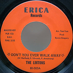 レコード画像:LINTONS / Don't You Ever Walk Away