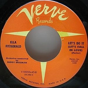 レコード画像:ELLA FITZGERALD / Manhattan / Let's Do It (Let's Fall In Love)