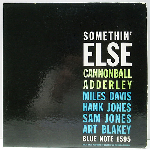 レコードメイン画像:良品!! MONO 両47WEST63rd. 両溝 CANNONBALL ADDERLEY Somethin Else (Blue Note 1595) RVG刻印 P(耳)マーク MILES DAVIS ほか