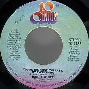 レコード画像:BARRY WHITE / You're The First, The Last, My Everything
