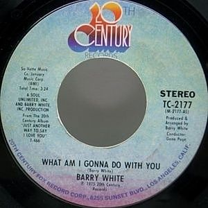 レコード画像:BARRY WHITE / What Am I Gonna Do With You