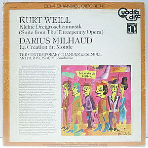 レコード画像:KURT WEILL / DARIUS MILHAUD / Suite From The Threepenny Opera, La Creation Du Monde