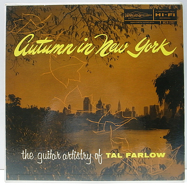 レコードメイン画像:美品!! '54 NORGRAN 深溝 MONO TAL FARLOW Autumn In New York (Artistry Of) GERRY WIGGINS, RAY BROWN, CHICO HAMILTON